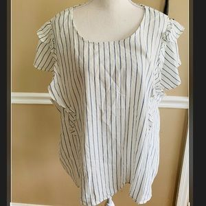 Old navy white with blue stripe top new with tags